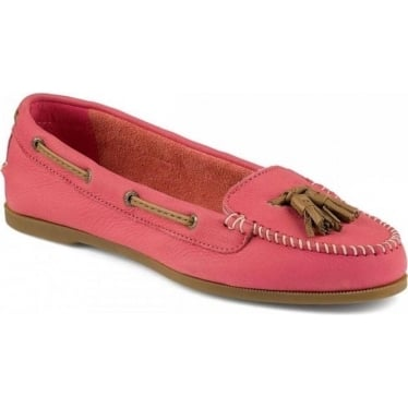 Womens Sabrina Kiltie Loafer in Pink Coral