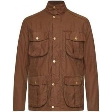 Mens New Utility Wax Jacket in Bark