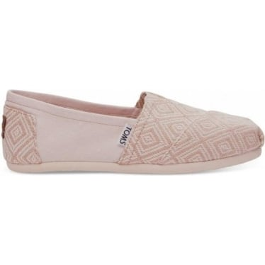 Womens Woven Diamond Classics in Whisper