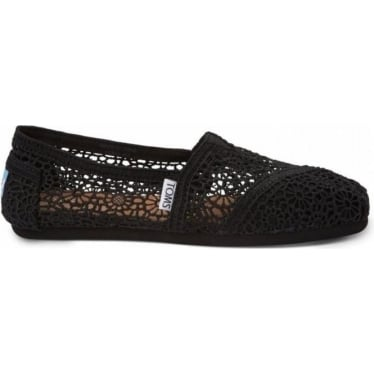 Womens Morocco Crochet in Black