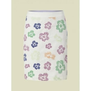 White Stuff Womens Floral Floradita Skirt in Tea Stain