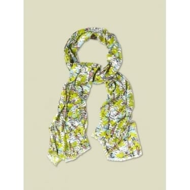 Womens Perching Parrots Scarf in Multi