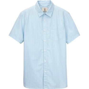 Mens Rioz Jacquard Shirt in Water