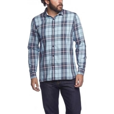 Mens Savin Shirt in Misty Blue