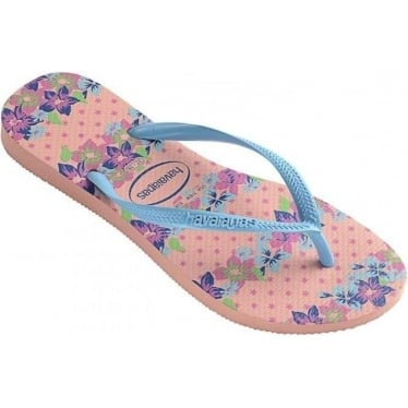 Womens Slim Provence Flip Flops in Light Pink