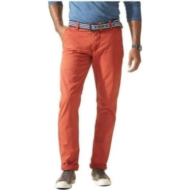 Mens Alpha Chino in Ketchup Red