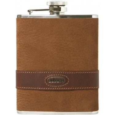 Rugby Hip Flask in Walnut
