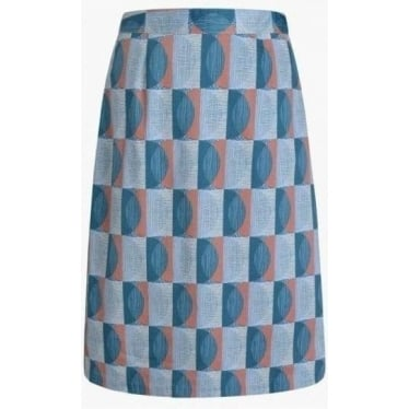 Womens Lawhippet Skirt in Scraffito Circle