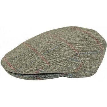 Womens Holly Tweed Cap In Moss