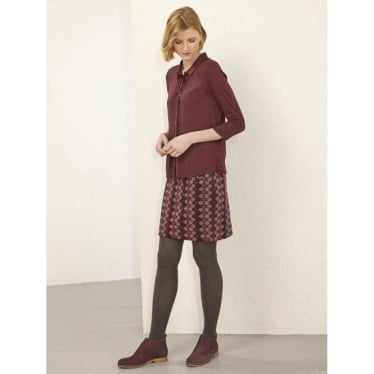 Womens Rydell Skirt In Dancehall Burgundy