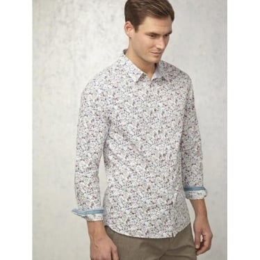 Mens Hammond Floral Shirt In White