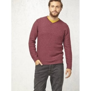 Mens Fade Out V Knit In Bilberry