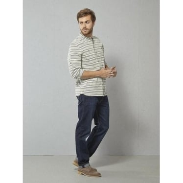 Mens Coastline Grandad Shirt In Ecru