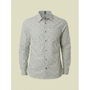 Mens Lint Print Shirt In Blue