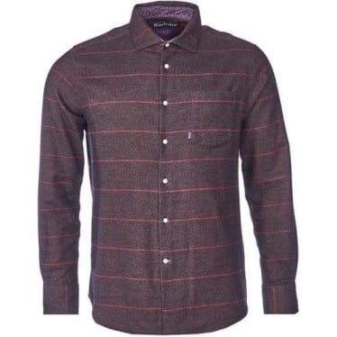 Mens Warnell Shirt In Brown