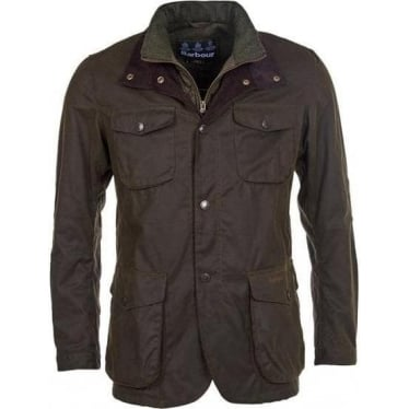 Mens Ogston Wax Jacket In Olive