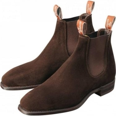 Mens Suede Craftsman Boot in Brown