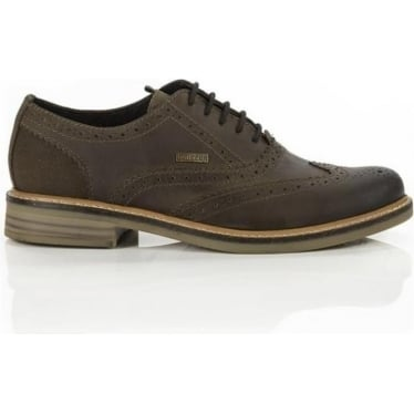 Mens Redcar Oxford Brogue in Dark Brown
