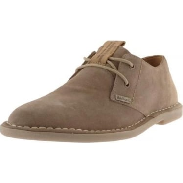 Mens Wingate Suede Derby Shoe in Taupe