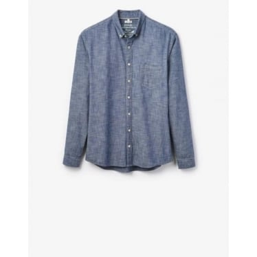 Mens Harswell Slim Fit Shirt in Chambray