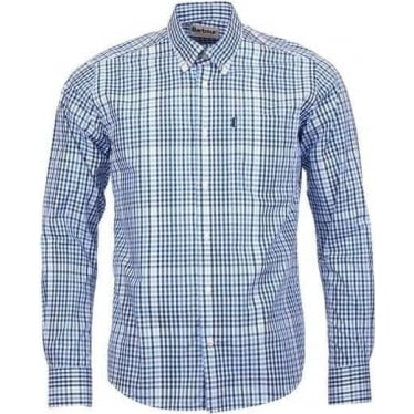 Mens Terence Tailored Fit Shirt in Blue