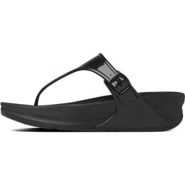 Womens Superjelly™ Flip Flop in All Black