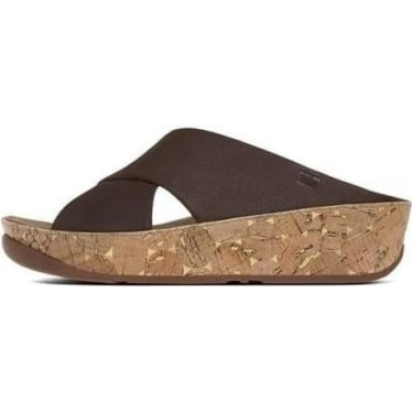 Womens Kys™ Leather Slide in Chocolate Brown
