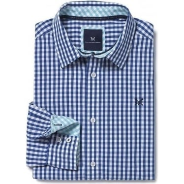 Mens Classic Gingham Shirt in Ultra Marine