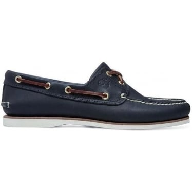 Mens Icon 2-eye Boat Shoe in Navy