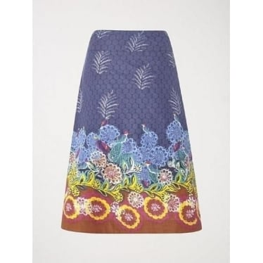 Womens Salsa Reversible Skirt in Dahlia Purple