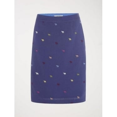 Womens Summer Camels Skirt in Ocean Blue