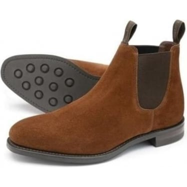 Womens Chatterley Chelsea Boot in Brown Suede