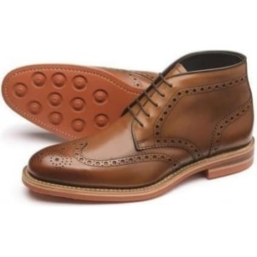 Mens Reading Brogue Boot in Brown