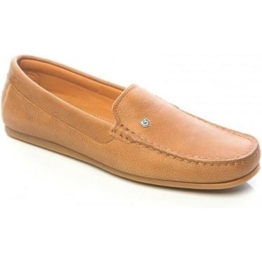 Womens Santorini Moccasin Shoe in Tan