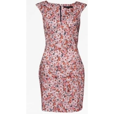 Womens Bacongo Daisy Floral Dress in Fizi Pink Multi