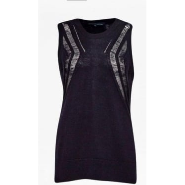Womens Erin Knits Sleeveless Jumper in Utility Blue