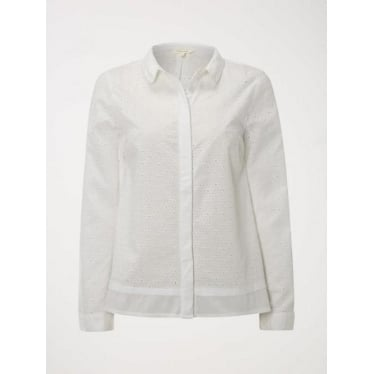Womens Broderie Shirt in White