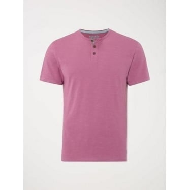 Mens Billy Henley Tee in Hibiscus