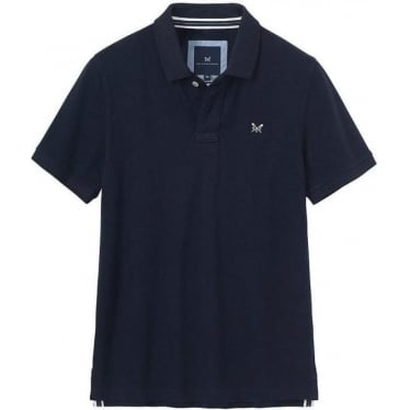Crew Mens Classic Pique Polo in Navy