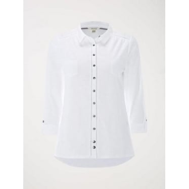 Womens Pearl Jersey Shirt in White