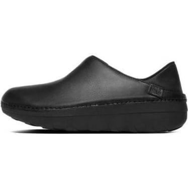 Womens Superloafer Leather Loafers in All Black
