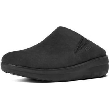 Womens Loaff Suede Clogs in Black