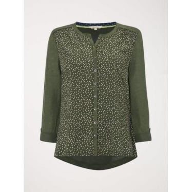 Womens Town And City Jersey Shirt in Spinach Green