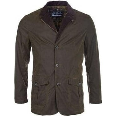 Barbour Mens Lutz Wax Jacket in Olive