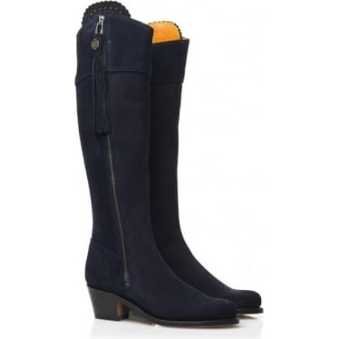 Womens Heeled Regina Boot in Navy