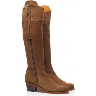 Womens Heeled Regina Boot in Tan