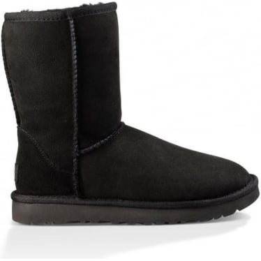 Womens Classic Short II Boot in Black