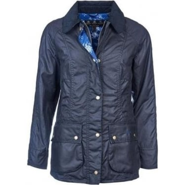 Womens Catherine Wax Jacket in Navy