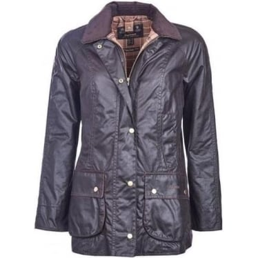 Womens Classic Beadnell Wax Jacket in Rustic