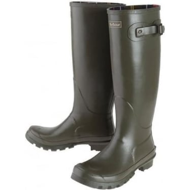 Barbour Womens Bede Wellington Boots in Olive